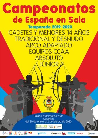 Cartel final Campeonatos España Sala TA 2020
